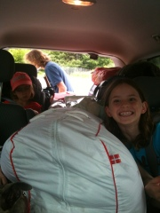 A once spacious minivan becomes squishy and claustrophobic.