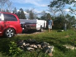 Pulling into campsite in Bar Harbor.