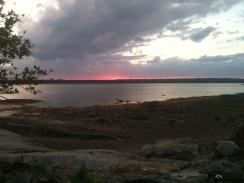 Sunset low tide