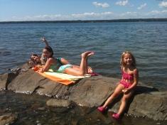 High tide back at camp