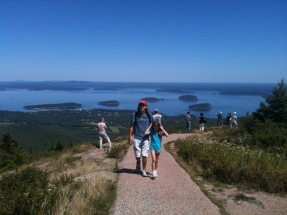 Hiking around the top of Cadillac Mountain