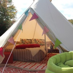 Luxury camping, east coast style.