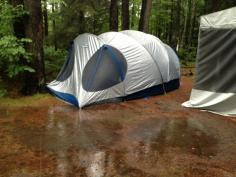 Our families campsite in Ontario...truly soaked.
