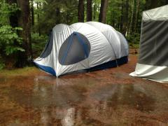 My family's campsite in Ontario...truly soaked.