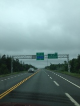 Here's hoping the windshield wipers will be turned off by the time we hit Confederation Bridge!
