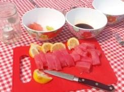 Sushi-grade tuna from Fisherman's market.