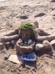Mermaid selling sand dollars