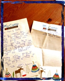 Camp letters to Mum and Dad