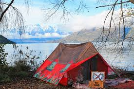 A wee cottage tent - one of our glamping extras, because I once had an affliction for buying tents.