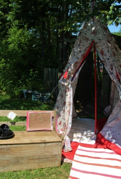 Tipsy our beloved teepee.