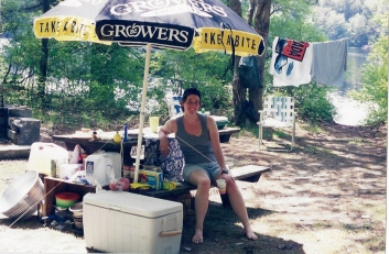 The one and only existing photo (pre-digital) from that girlie getaway 17 years ago.