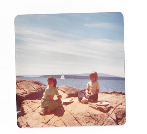 Sarah & I ''glamping' in Maine (one of our earlier road trips)