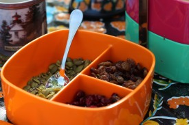 Pumpkin seeds, dried cranberries and other whole food fruits and seeds provide slow release energy, flavour and crunch.