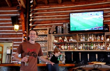 Glamping is...a fresh pint and the World Cup Final on big screen TV.