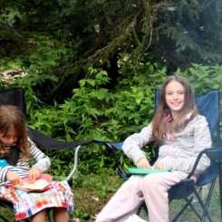 Campfire quesadillas