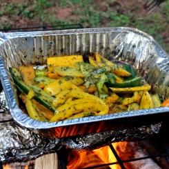 Chimichurri grilled veg