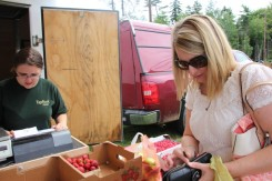 Family market day out for Amanda MacDonald as we filled our baskets.