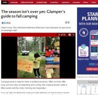 fall glamping