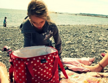 Picnic on Little Cranberry Island, ME.