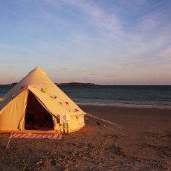 A vintage bell tent