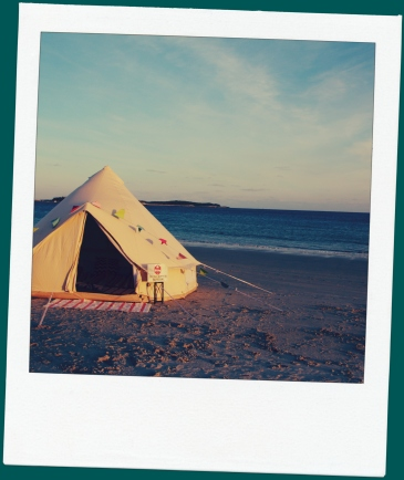 Sunset at Bayswater Beach in a 4 Metre East Coast Glamping Bell.