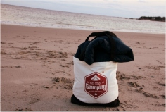 ECG Vintage logo Totes: for surf, sand, market or wherever you get lost.