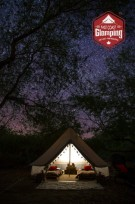 Starry night in an East Coast Glamping bell tent