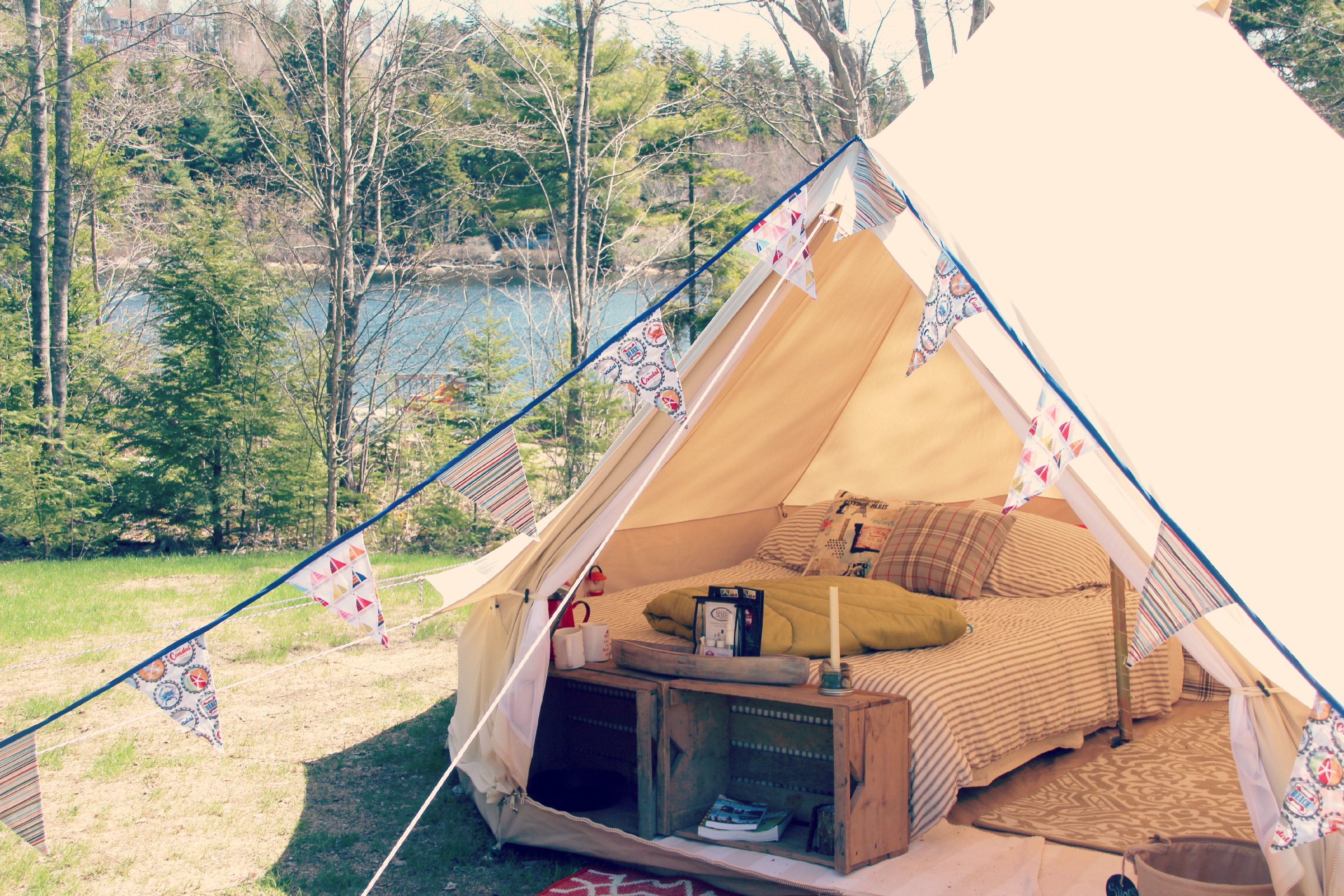 Gl&ing 101 How To Set-Up a Bell Tent & Buy A Bell Tent u2013 East Coast Glamping