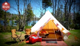 Enter an East Coast Glamping bell tent for 2 people.