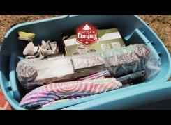 East Coast Glamping Pantry Packs have everything needed to cook at your campsite, including picnic table and seat covers.