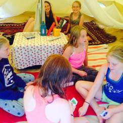 Bell tent lounge.