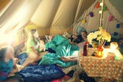 Bell tent slumber tent for 8.