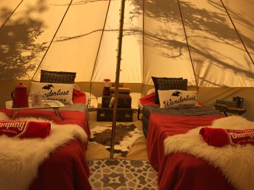 Delivered by boat for Island Glamping